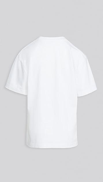 Alexander Wang 渐变色发泡印花短袖 T 恤