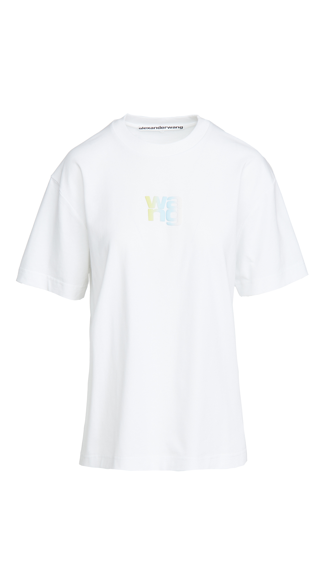 Alexander Wang Short Sleeve Tee With Ombre Puff Print