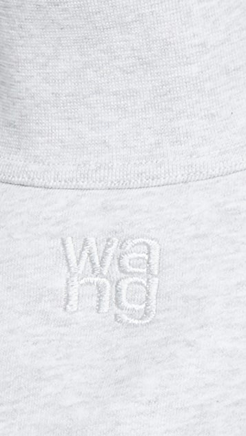 Alexander Wang Funnel Neck Pullover with Allover Embroidery