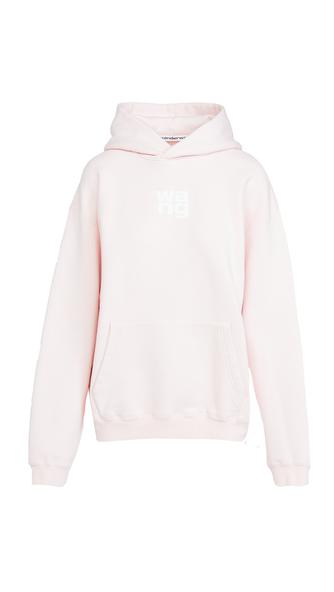 Alexander Wang Garment Washed Hoodie With Wang Puff Print