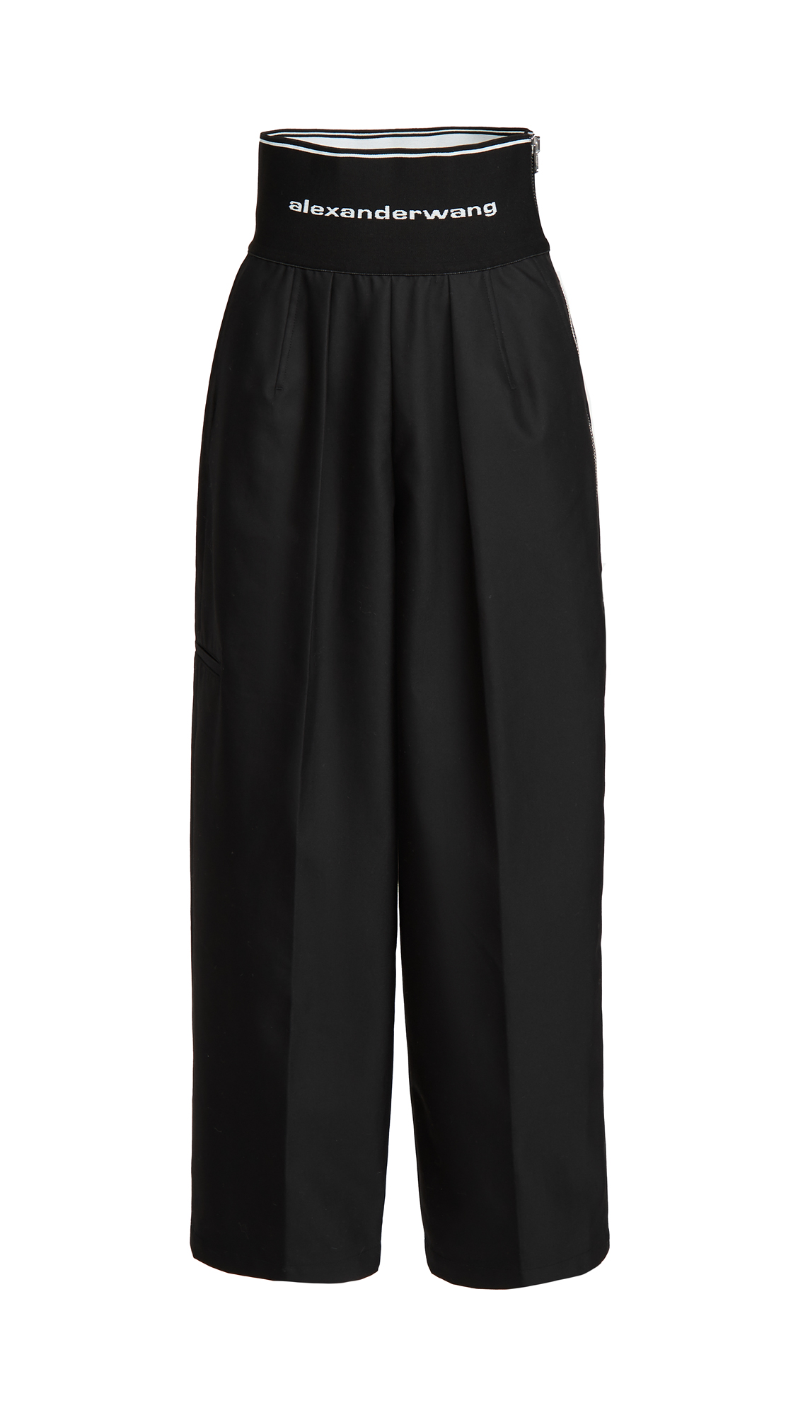 Alexander Wang Carrot Pants with Exposed Zipper and Logo Elastic