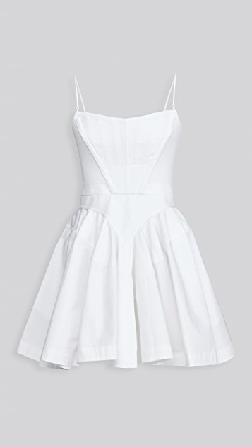 Alexander Wang Fit and Flare Dress with Corset