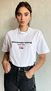 Alexander Wang 徽标图案短袖 T 恤