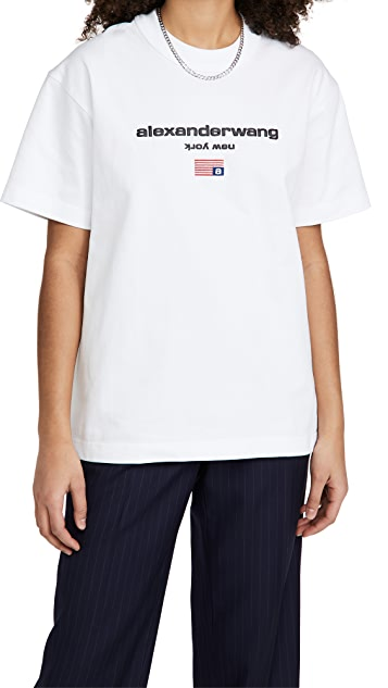 Alexander Wang Short Sleeve Logo Graphic Tee