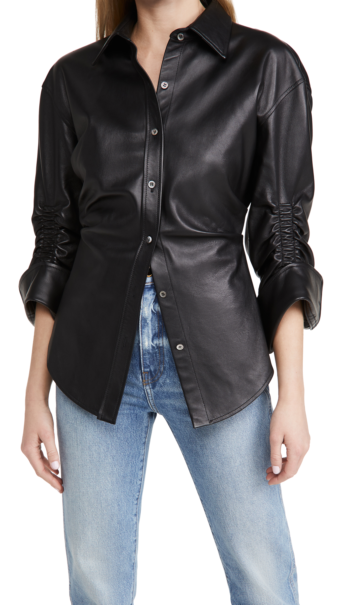 Alexander Wang Cinched Waist Button Down Shirt