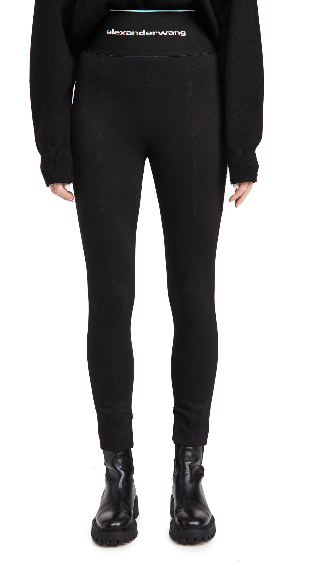 Alexander Wang Leggings with Exposed Zipper