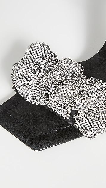 Alexander Wang Julie Scrunch 水晶凉鞋