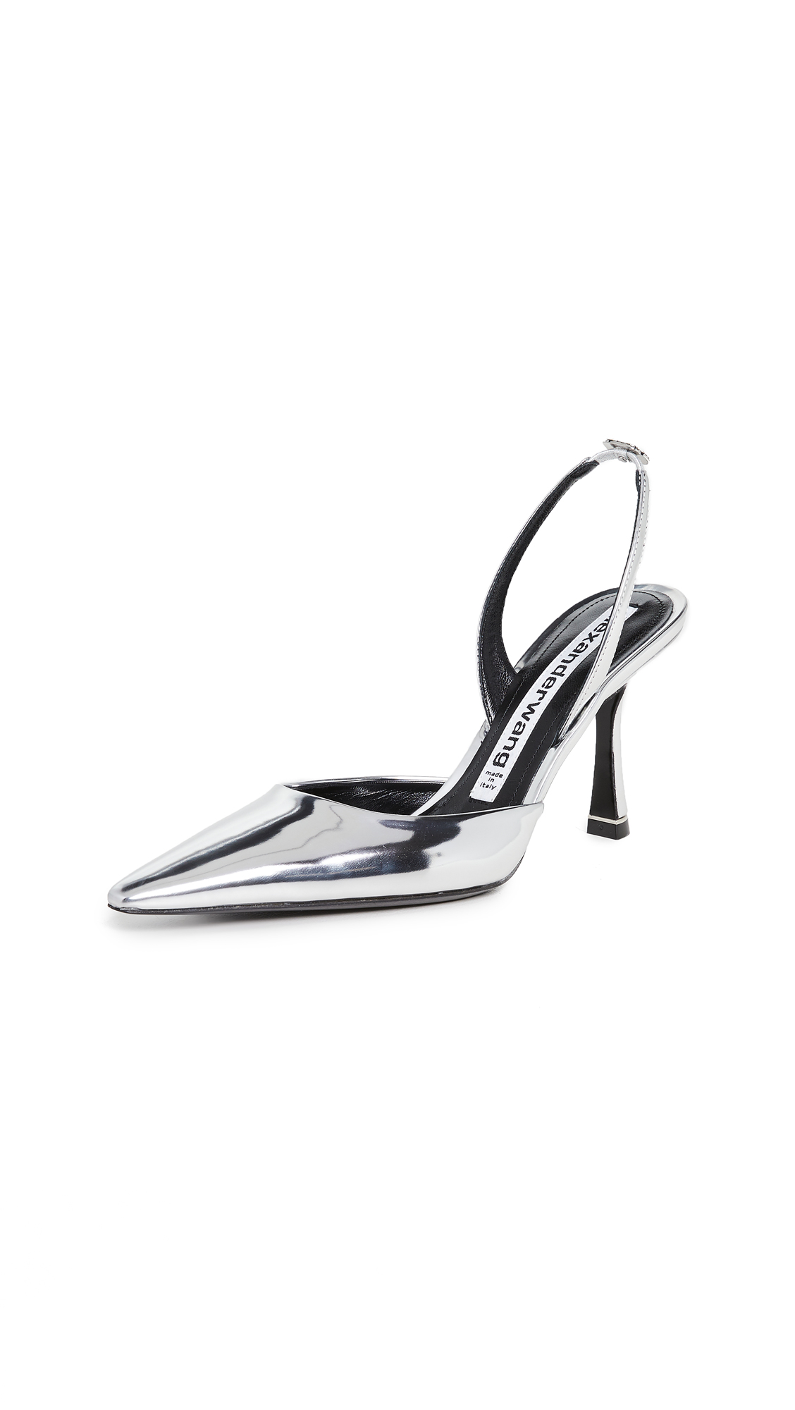 Alexander Wang Grace 85mm Silver Mirror Slingbacks