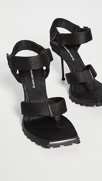 Alexander Wang Julie Lug Sport Thong Sandals
