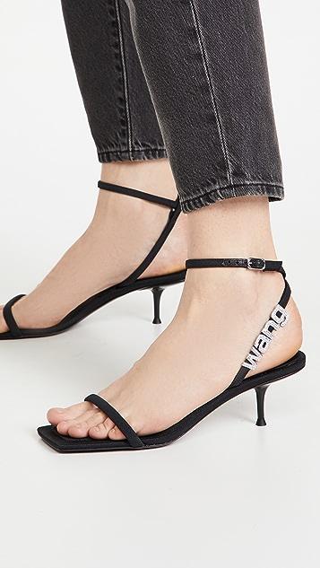 Alexander Wang Jessie Logo Sandals