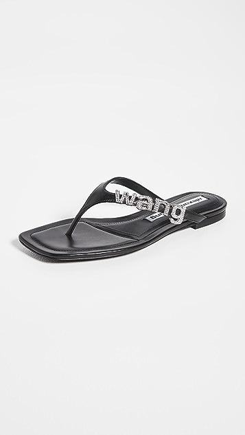 Alexander Wang Ivy 平底夹趾凉鞋