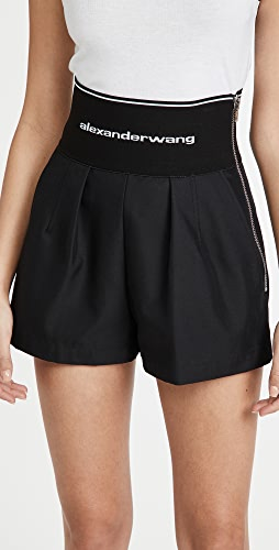 Alexander Wang - Safari Shorts with Logo Elastic