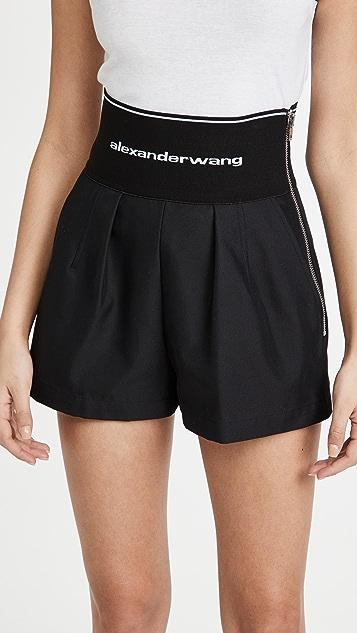 Alexander Wang Safari Shorts with Logo Elastic