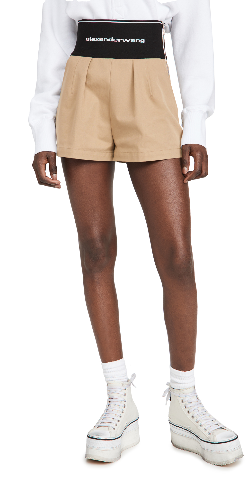 Alexander Wang Safari Shorts with Logo Elastic