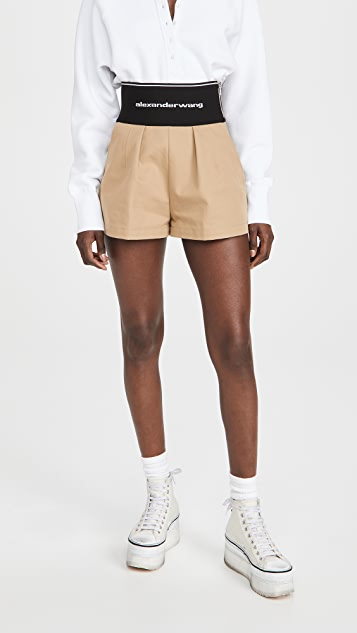 Alexander Wang 游猎风格徽标弹性短裤