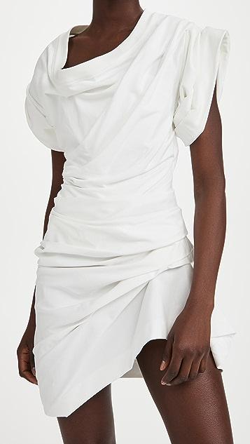 Alexander Wang 一体式束身褶皱短袖连衣裙