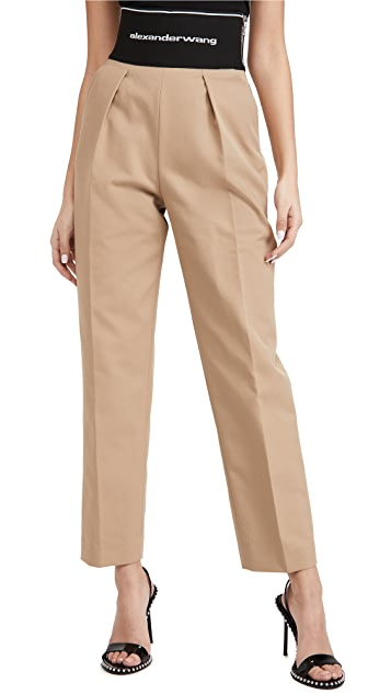 Alexander Wang Straight Leg Trousers with Logo Elastic