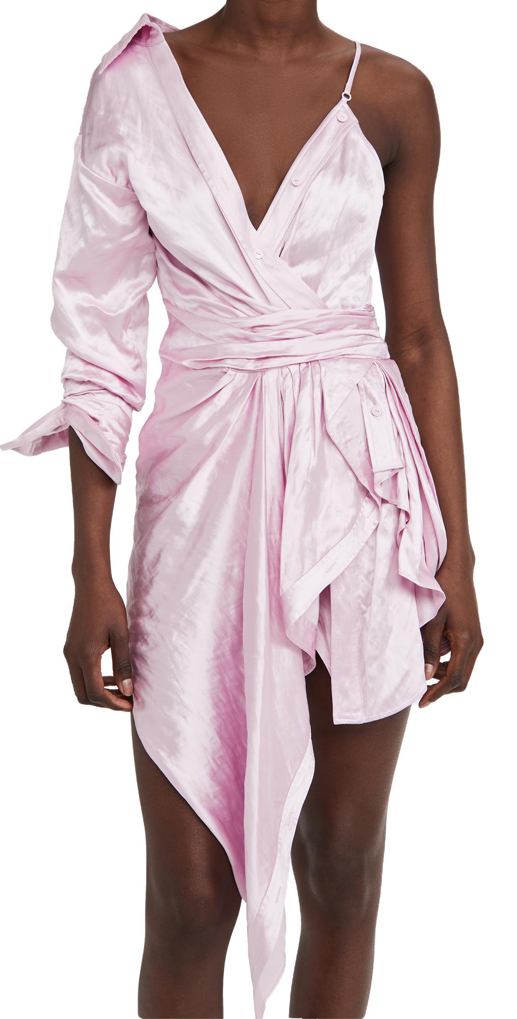 Alexander Wang Dresses ASYMMETRIC DRESS WITH SHARP COLLAR