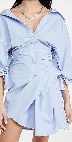 Alexander Wang - Long Sleeve Voluminous Cinched Waist Dress