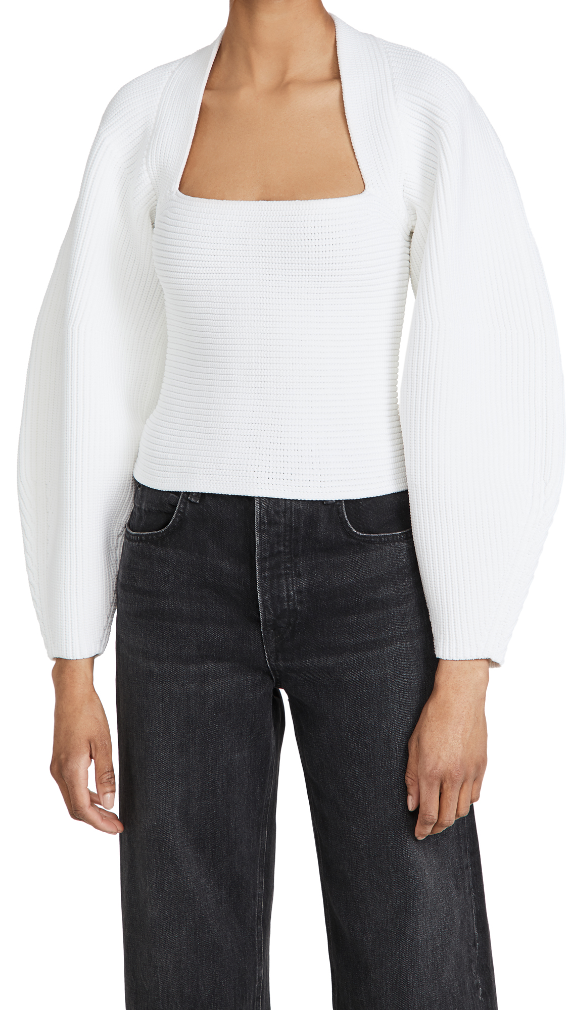 Alexander Wang Integral Shrug Ribbed Pullover