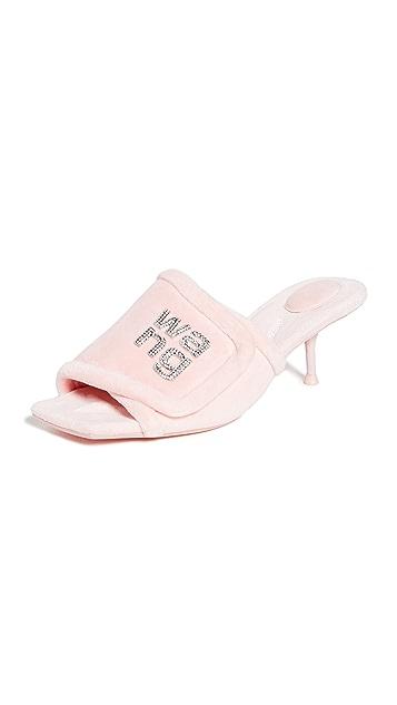 Alexander Wang Jessie Padded Logo Sandals