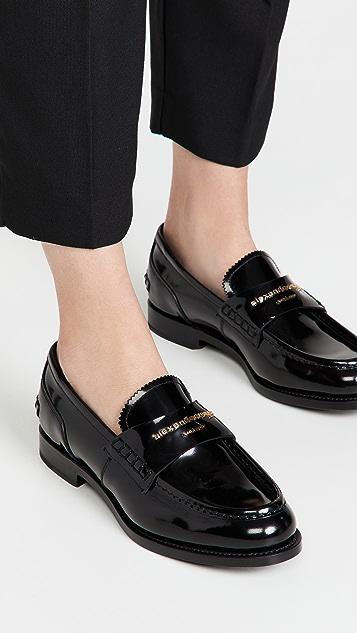 Alexander Wang Carter 徽标字母乐福鞋