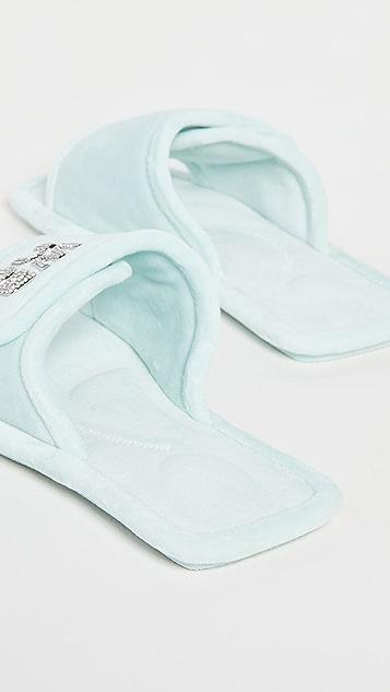 Alexander Wang Lana Padded Logo Slippers