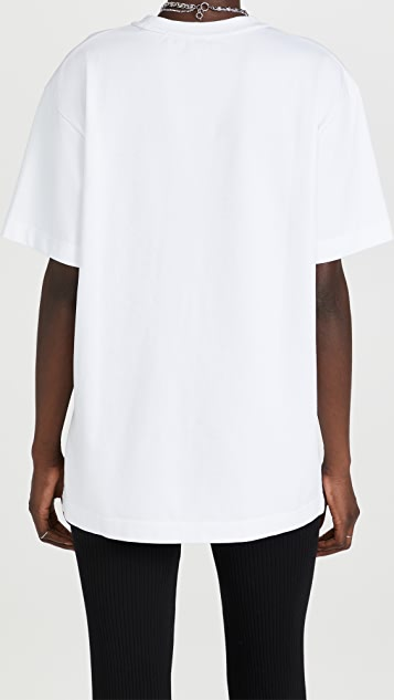 Alexander Wang Classic Short Sleeve Tee with Lipstick Graphic