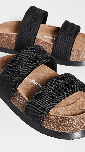 Alexander Wang Ronan 黑色硬质凉拖鞋