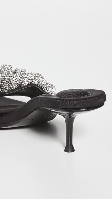 Alexander Wang Jessie Crystal Scrunchie Sandals