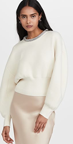 Alexander Wang - Pullover with Crystal Tubular Necklace