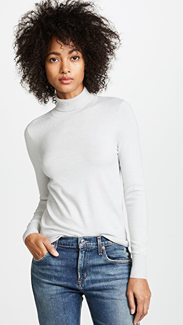 AYR The High Turtleneck Sweater - Silver Cloud