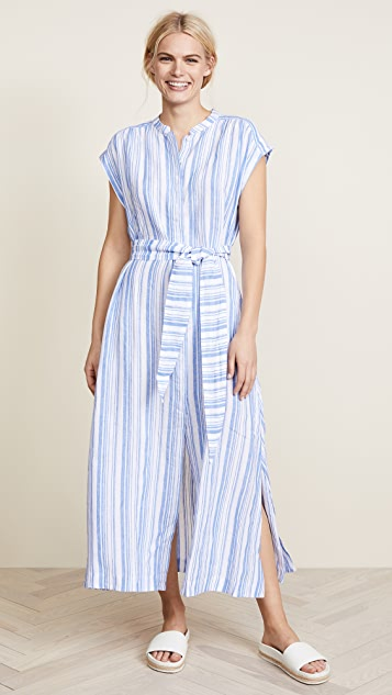 AYR The Sunset Dress - Blue & White Stripe