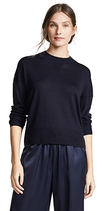 AYR The Huzzah Wool Sweater - Navy