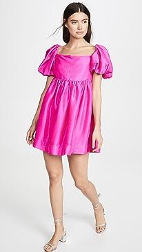 Kam Puff Sleeve Mini Dress
