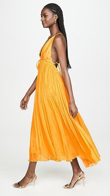 Azeeza V Neck Pleated Gown