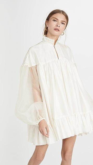 Azeeza High Neck Long Sleeve Mini Dress