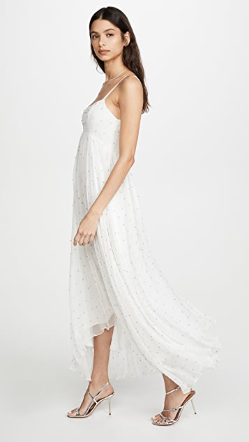 Azeeza White Dress with Cystals
