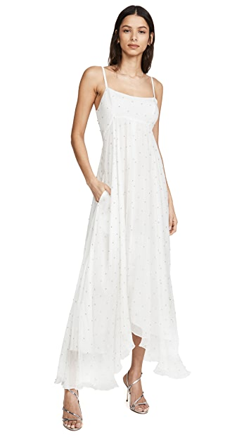 Azeeza Белое платье с кристаллами