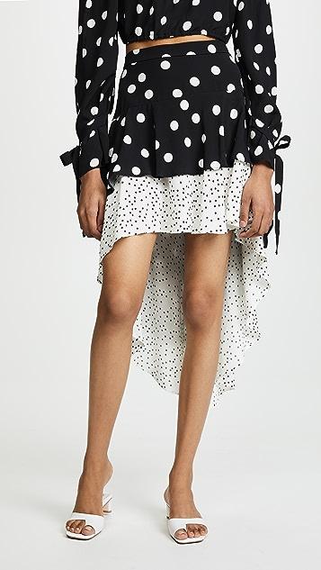 Backstage Joni Skirt - Large Black Dot