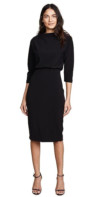 Badgley Mischka Collection Long Sleeve Dress - Black