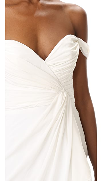 Badgley Mischka Collection Off Shoulder Gown