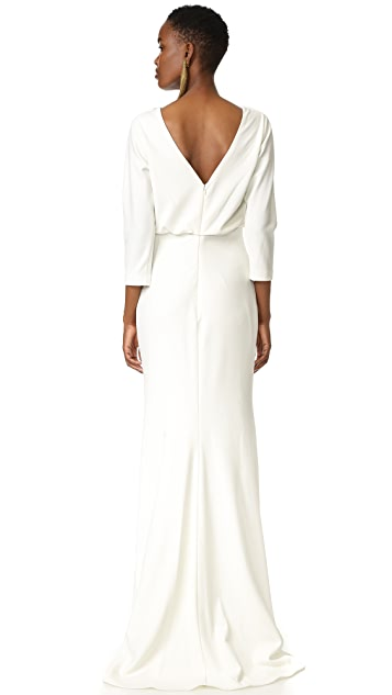 Badgley Mischka Collection Long Sleeve Gown