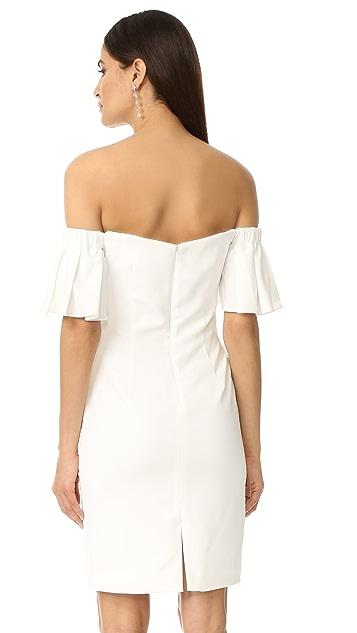 Badgley Mischka Collection Off Shoulder Bell Sleeve Dress