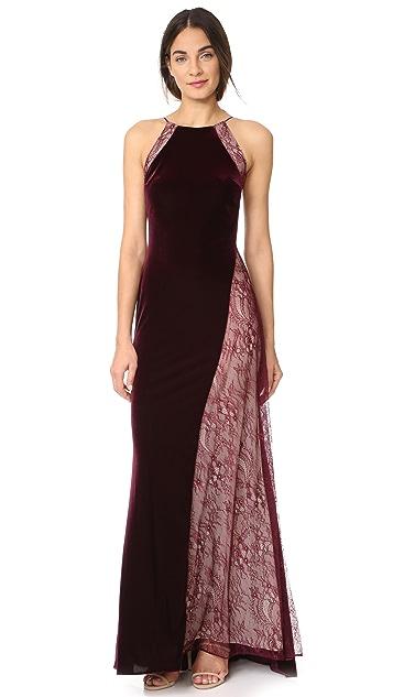 Badgley Mischka Collection Velour Gown