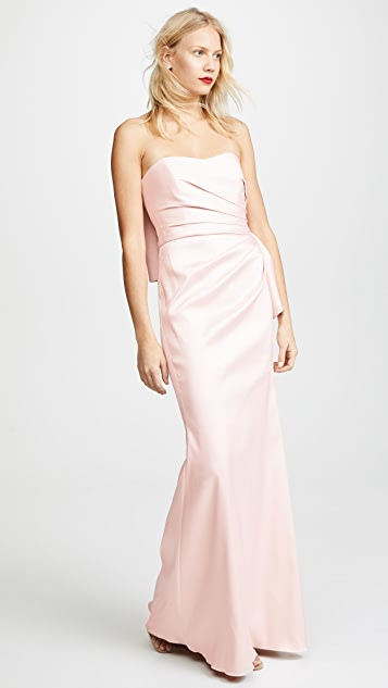 Badgley Mischka Collection Bow Back Gown