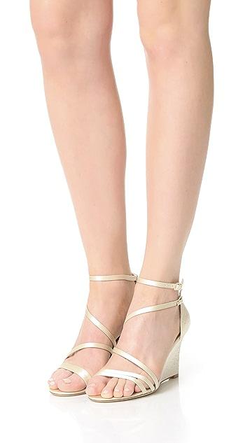 Badgley Mischka Carnation Wedge Sandals