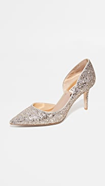 Daisy Glitter Pumps