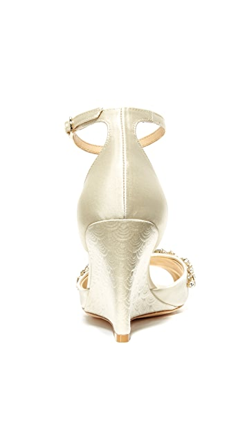 Badgley Mischka Barbara Wedge Sandals