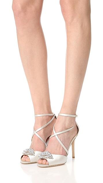 Badgley Mischka Tatum Peep Toe Sandals
